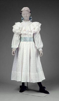 "edwardian-time-machine: "" Girl's dress, American, 1899. Source """