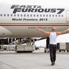 What do you think of our Fast & Furious 777?   Vin Diesel went down to LAX to take a look at it with our Cabin Crew. #EtihadAirways #airlines