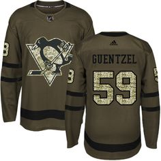 81a2d67cd Adidas Pittsburgh Penguins  59 Youth Jake Guentzel Authentic Green Salute  to Service NHL Jersey Nhl