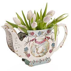Pastries and Pearls Teapot Vase - Talking Tables - Putti Fine Furnishings