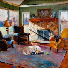 """Daily Paintworks - """"Lazy Afternoon"""" - Original Fine Art for Sale - © Alice Hauser"""