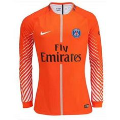 2844ae8e1c1 Gardien PSG ML Orange 2017 2018 Paris Saint-Germain maillot de foot pas cher