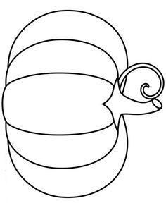 A Single Pumpkin Coloring Page In Jpg And Transparent PNG