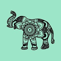 Elephant henna tattoo