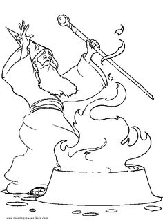 Magic Wizard Witch Coloring Page 08