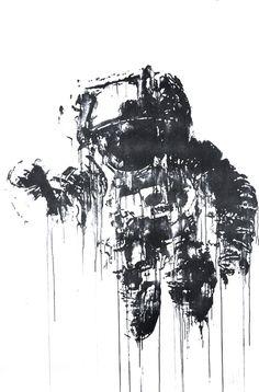 Screen Printing Art | 'Astronaut' Print Available - PostersandPrints - An Urban Street Art ...