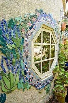Mosaiek om 'n venster