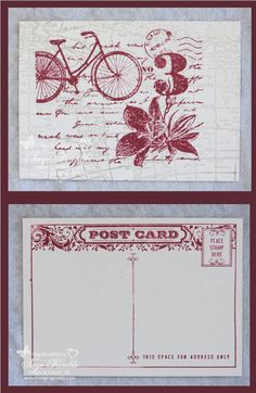 This handmade vintage post card is the August featured project for Stamping Madly Newsletter subscribers.  It uses the Post Card, World Map, and Postage Due stamps from Stampin' Up!.  You'll always find helpful tips and tricks in each issue of the newsletter.  If you're not on my mailing list yet, be sure to sign up.  www.stampingmadly.com