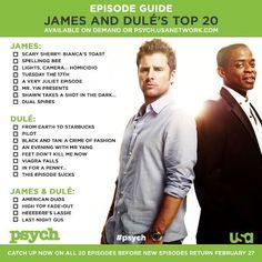 James & Dule's favorite episodes