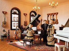 The music department in the largest miniature department store in the world.