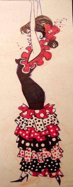 Flamenco. Art by DEANNA MARSIGLIESE: http://www.deannamarsigliese.com