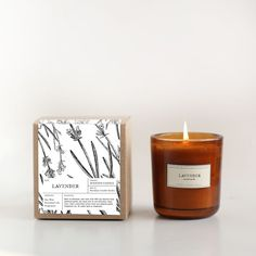 Lavender Amber Glass Candle – Brooklyn Candle Studio