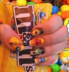 M nails inspiration Colorful Nail Designs, Cute Nail Designs, Cute Nails, My Nails, Nail Manicure, Nail Polish, Mani Pedi, Nail Art Pictures, Chocolate Day