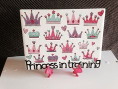 Princess in Training PRINCESS CROWN Girls Room Decor