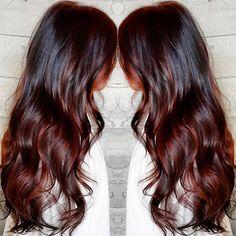 Cherry Cola Hair Color - butterflyloftsalon's photo on Instagram