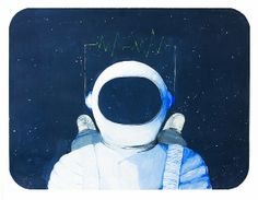 Cosmonauta de témpera. por Esteban Pérez