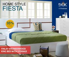 Have an endless love affair with your bed on Sundays.   #EvokHomes #Furniture