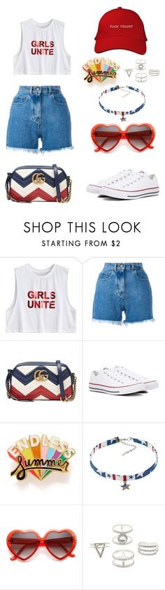 """""""Untitled #1846"""" by dani-gracik ❤ liked on Polyvore featuring Philosophy di Lorenzo Serafini, Gucci, Converse, ban.do and Charlotte Russe"""