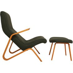 Grasshopper Chair and Ottoman by Eero Saarinen for Knoll   From a unique collection of antique and modern lounge chairs at http://www.1stdibs.com/furniture/seating/lounge-chairs/