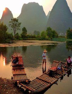 Yulong River, Yangshuo, China: