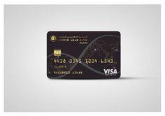 UNITED ARAB BANK Debit Card Design, Business Card Design, Business Credit Cards, Credit Card Wallet, Black Card, Amazon Card, Vip Card, Branding, Credit Card Offers