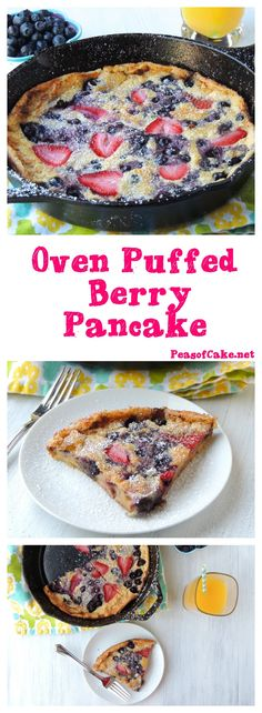 With a crispy golden outside and custardy soft inside, these lightened up Oven-Puffed Berry Pancakes are delicious and impressive, yet unbelievably easy to make!