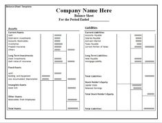 Business Balance Sheet Template Free Download  Download Free