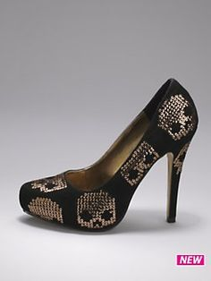 Iron Fist Gold Star Skull Platform Shoes. Wish i could walk in them