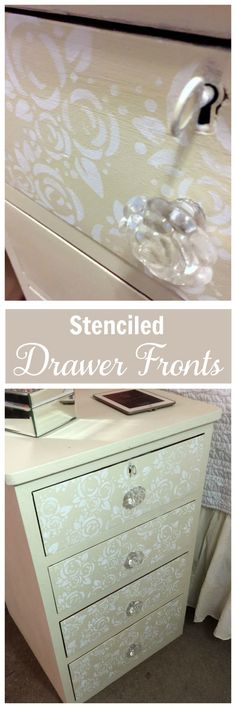 Easy furniture update: Stenciled Drawer Fronts