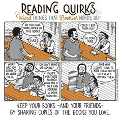 Reading Quirks #09 - How to keep your reader friends.