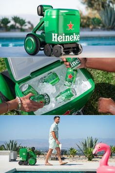 Heineken has unveiled its latest AI-powered robot on wheels that can roam on its own. Aptly named Heineken B.O.T. (Beer Outdoor Transporter), it is a limited-edition autonomous robot cooler that dutifully follows its owner wherever they go with ice-cold cans of Heineken. Autonomous Robots, Chilled Beer, Best Espresso Machine, Beer Cooler, Smart Robot, Wheels, Appliances, Ice, Cold