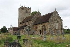 Lichen on Limestone gravestones - St Gregory's near Morville Hall -- Martin Nicholson's Cemetery Project