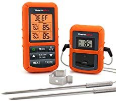 ThermoPro Wireless Remote Digital Cooking Food Meat Thermometer with Dual Probe for Smoker Grill BBQ Thermometer Boneless Leg Of Lamb, Best Smoker, Bbq Thermometer, Grill Oven, Mint Sauce, Digital Timer, Stainless Steel Tubing, Best Meat, Types Of Food