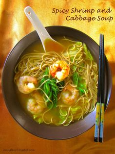 Spicy Shrimp and Cabbage Soup