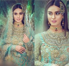 Depending on the size and the style of the necklace it can dress up a casual outfit Pakistani Bridal Makeup, Bridal Mehndi Dresses, Indian Bridal Lehenga, Wedding Dresses For Girls, Pakistani Wedding Dresses, Pakistani Outfits, Bridal Outfits, Pakistani Models, Pakistani Dramas