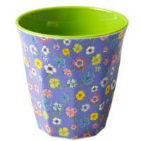 Melamine Cup Two Tone Lavender & Green Flower Print Rice DK