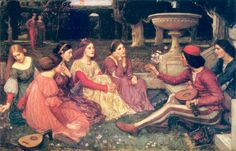 A Tale from the Decameron, John William Waterhouse