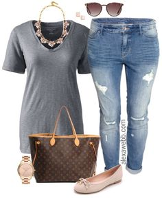 This plus size casual outfit is a perfect combination of masculine and feminine!  Add baby pink accessories to any plain tee and boyfriend jeans for an easy chic look.  Add some sophistication with a classic handbag, like a Louis Vuitton Monogram Neverfull Tote. My philosophy on buying high-end designer bags is like buying a car.  As… Read More