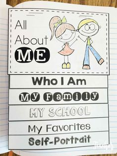 Are you looking for an All About Me book idea?  This flap book can be used as a stand along book or in an interactive notebook.