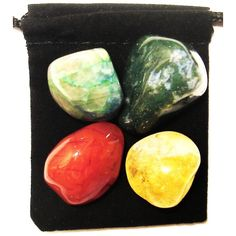 Tumbled Crystal Set with Extras. Crystals And Gemstones, Stones And Crystals, Crystals Minerals, Healing Stones, Crystal Healing, Abdominal Pain, Crohns, Stylish Jewelry, Chakra Healing