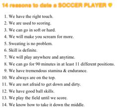 reasons to date a soccer player | wedefinesoccer : 14 reasons to date a soccer player ;) #wedefinesoccer ...