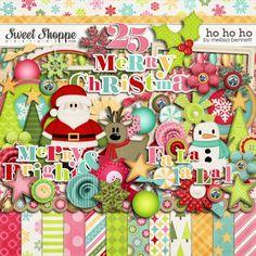 cute Christmas digital scrapbook kit