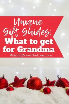 Find the perfect gift for grandmas. Christmas gifts, birthday gifts, new grandma gifts, gifts for grandmas to give to their grandkids, and more. Christmas Gifts For Grandma, Birthday Gifts For Grandma, Christmas Gift Guide, Christmas Gifts For Women, Birthday Gifts For Her, Holiday Gifts, Diy Birthday, Christmas Ideas, Birthday Recipes