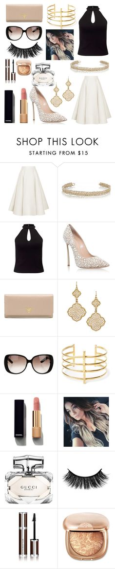 """Date Night Out"" by brittcmidfielder ❤ liked on Polyvore featuring Roksanda, Maison Margiela, Miss Selfridge, Casadei, Prada, Blu Bijoux, Gucci, BauXo, Chanel and Givenchy"