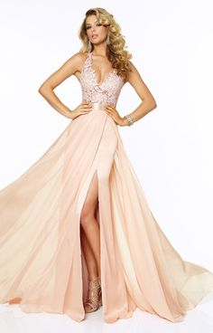 Sexy Backless Lace Prom Dress