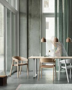 Dining settings for daysseen here is the Cover Chair alongside our 70/70 Table and Grain Lamp. #muuto #newperspectives #thomasbentzen
