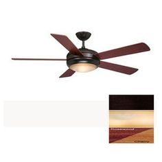 Rialta 52-in Oil-Rubbed Bronze Indoor Downrod Mount Ceiling Fan with Light Kit and Remote Control