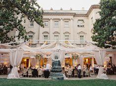 Tent Wedding, Wedding Venues, Wedding Reception, Yard Wedding, Reception Ideas, Wedding Themes, Wedding Ideas, Air Tent, Washington Dc Wedding