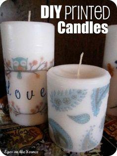 DIY Printed Pattern : DIY Printed Candles