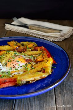 Mi piace e non mi piace: Uova con Avocado, Peperoni e Patate